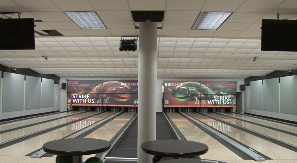 The floors in Galimore Lanes are just one of the renovations made to the interior of the alley.