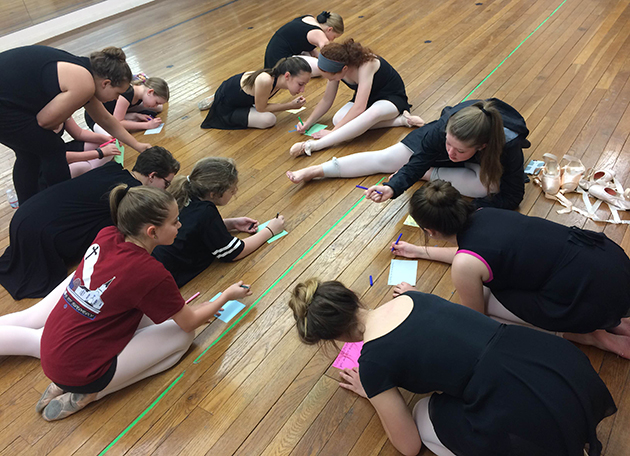 """Miss Crescent City 2016 and former Miss Southeastern 2015 senior kinesiology major Emily Randon's ballet students make encouragement cards for those receiving chemotherapy treatments. Randon's platform is """"Winning the Battle Within"""" and focuses on autoimmune disease awareness and prevention. Randon's platform will allow her to share her story of her personal battle against ITP and to inspire others who are still fighting this disease."""