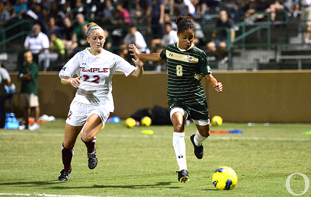 Senior forward Demi Stokes has scored 15 goals in her four-year career at USF.