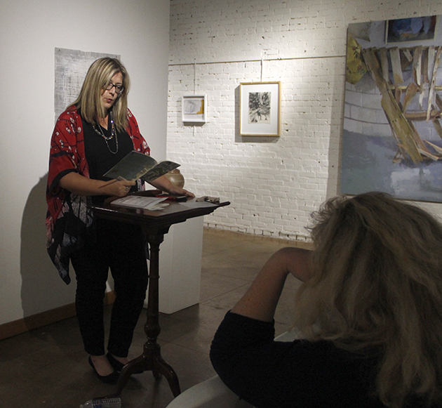 """""""Waterlines"""" author Alison Pelegrin read from the book at HRAC, which was published with the LSU Press. The book centers around Pelegrin's experiences with local culture and nature, written in the form of poetry."""