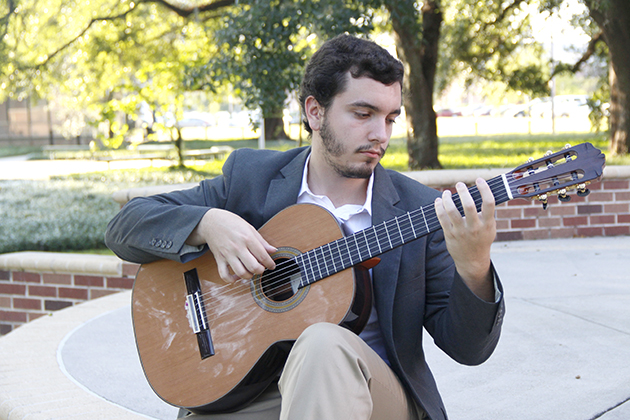 Graham Guillory, a senior music major  became infatuated with the infamous Romero Quartet, also known as the Royal Family of the Guitar. The classical guitarist, Guillory ,got the chance to study with Grammy-winning guitarist Pepe Romero Jr. the past summer at the annual Celedonio Romero Guitar Institute. He plans to return in summer of 2017.