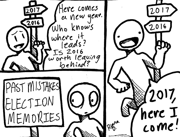 Moving forward cartoon.
