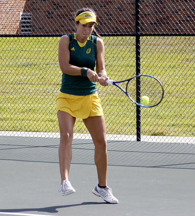 Junior Dany Raygadas was one of three players to earn a straight victory in their 5-0 win against McNeese State.