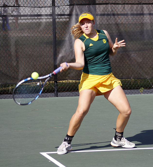 Tennis returned home for their last invitational of the fall season. The Lady Lions will start their spring season at home on Jan. 28 against LSU-Alexandria.