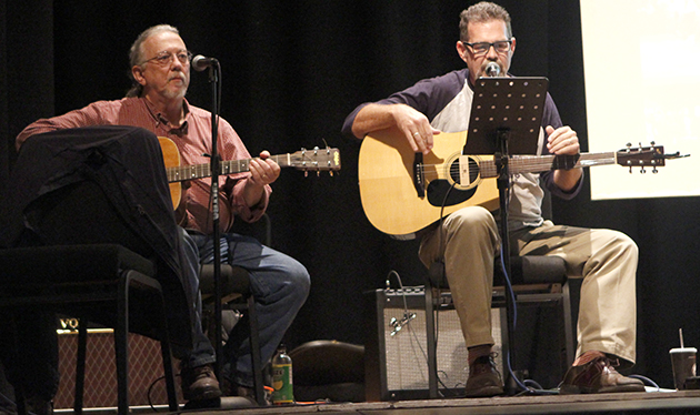 Impaired Faculties performed before the opening of Dr. Joe Burns, a communication professor lecture last week. Burns' lecture centered around the impact of political songs in past elections.