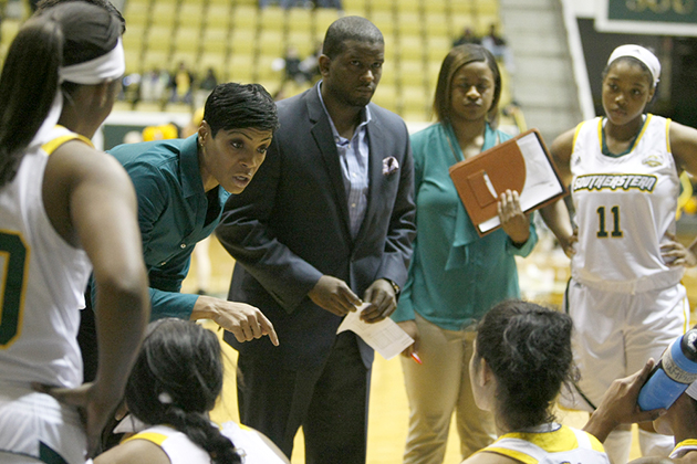 Head Coach Yolanda Moore came to Southeastern after successfully coaching the LSU Eunice women's basketball team to their first conference championship in school history in 2014.