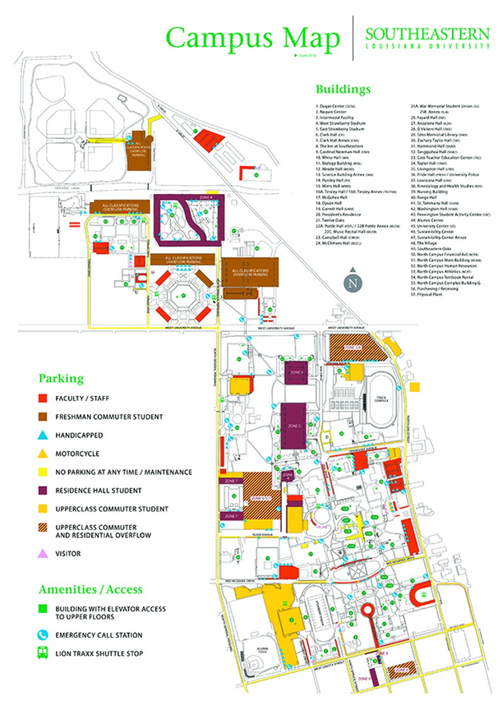 southeastern louisiana university campus map Know The Parking Policy And Procedure The Lion S Roar southeastern louisiana university campus map