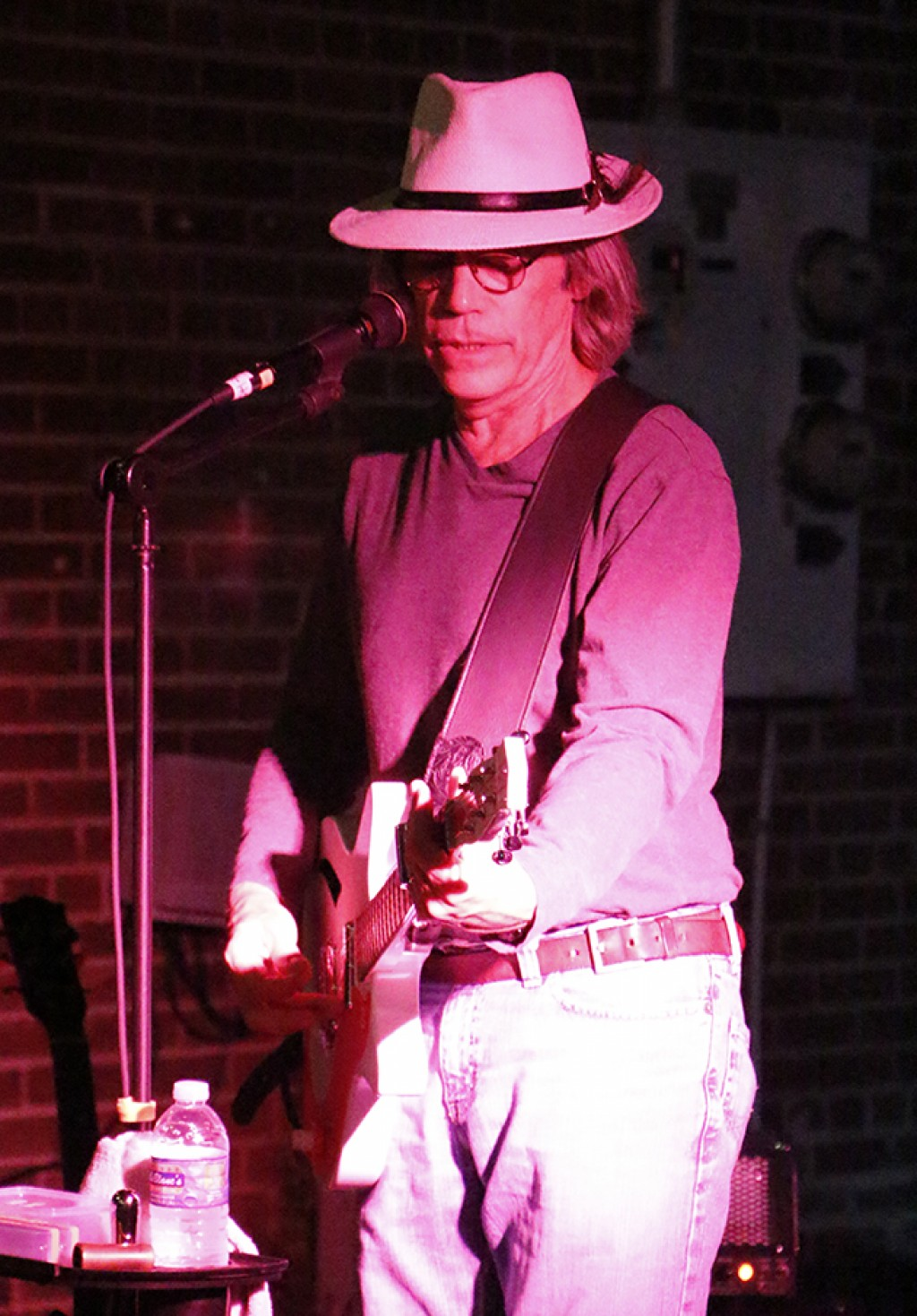 Member of Ricky T and The Rockets, Rick Tobey performed blues and rock songs at the festival for the first time.