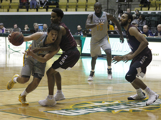 Junior guard Eddie Polanco inspired  the Lion's first half comeback with 18 points in the half. He scored a career high 21 points in the game against Maryland Eastern-Shore Hawks.
