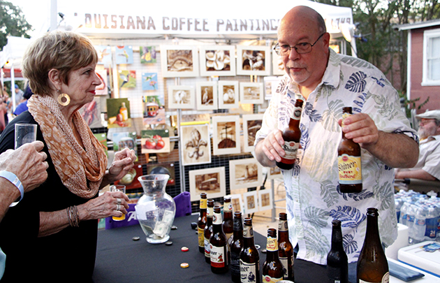 Director of Sims Memorial Library, Eric Johnson served a variety of brews as a volunteer for HRAC